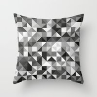 pillow pattern bw #2 Throw Pillow