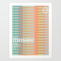 mosaic single hop Art Print