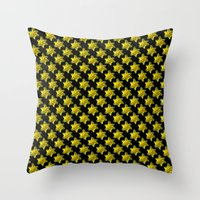 Daffodil On Black Throw Pillow