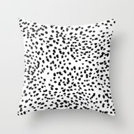 Nadia - Black And White,… Throw Pillow