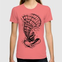Gramophone Womens Fitted Tee Pomegranate SMALL
