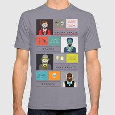 Django Unchained Character Poster Mens Fitted Tee Slate SMALL
