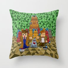 8bit Doctor who vs dalek iPhone 4 4s 5 5c 6, pillow case, mugs and tshirt Throw Pillow