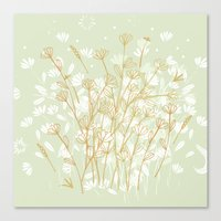 Coockie brown clover on green  Canvas Print