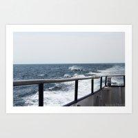Wave Break Art Print