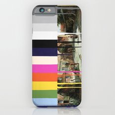 Garage Sale Painting of Peasants with Color Bars iPhone 6 Slim Case