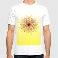 SUN SMALL Mens Fitted Tee White