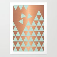 Copper & Mint Art Print