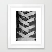 All Laced Up And Nowhere To Go Framed Art Print