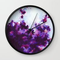 Purple Passion Wall Clock