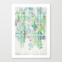 Winter in Glasshouses II Canvas Print