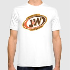 Jeeves and Wooster's Fine Beverages Mens Fitted Tee SMALL White