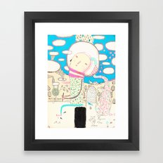 Be led by your dreams Framed Art Print