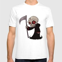 Little Reaper Mens Fitted Tee White SMALL