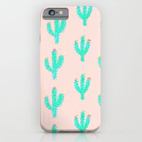 iPhone & iPod Case featuring Cactus Print by Bouffants and Broken Hearts