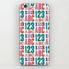 ABC 123 iPhone & iPod Skin