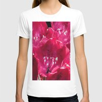 Red Azalia Womens Fitted Tee White SMALL