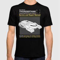 Thundertank Service and Repair Manual Mens Fitted Tee Black SMALL