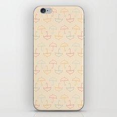 UMBRELLA - PEACH iPhone & iPod Skin
