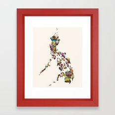 7,107 Islands | A Map of the Philippines Framed Art Print