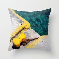 aegean sea santorini Throw Pillow