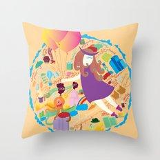 Ambrosia with balloon Throw Pillow