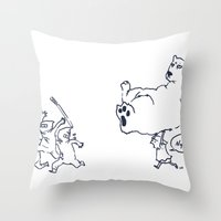 a dose of polar bear Throw Pillow
