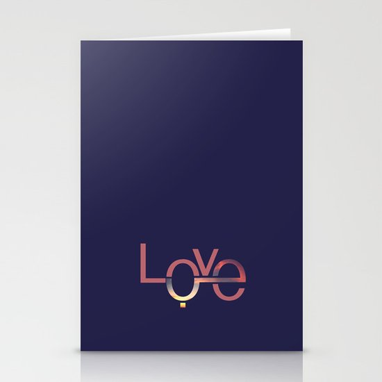 Love in English and Arabic Stationery Card
