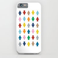 iPhone & iPod Case featuring Arrows Up and Down by Project M