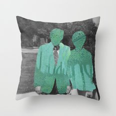 Under the Mask Throw Pillow
