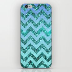 glittery ocean chevron iPhone & iPod Skin