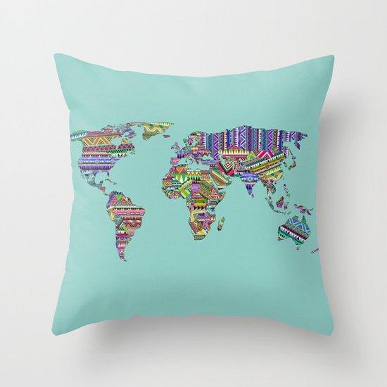 Overdose World Throw Pillow