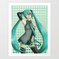 Miku Art Print
