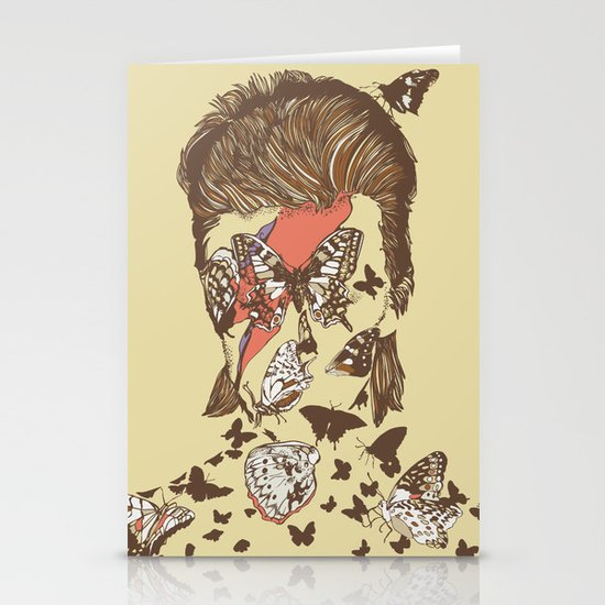 FACES OF GLAM ROCK Stationery Card