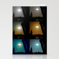 Ecliptical sun over Hollywood, CA Stationery Cards