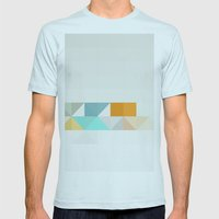 Triangle Pattern Mens Fitted Tee Light Blue SMALL