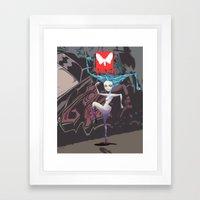 Moth Cs Framed Art Print