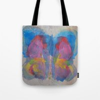 Pastel Ice Cream Butterfly Tote Bag