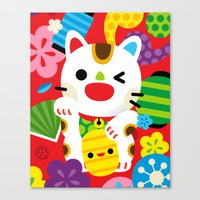 Maneki Neko Canvas Print