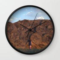 heyloft sunset Wall Clock