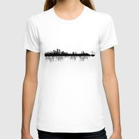 Skyline Roots Womens Fitted Tee White SMALL