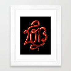 2013 - Year of the Snake Framed Art Print