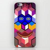 cube face iPhone & iPod Skin