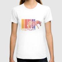 zebra T-shirts featuring zebra  by mark ashkenazi