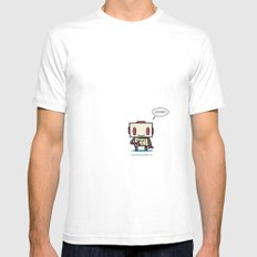 Coffee? SMALL Mens Fitted Tee White