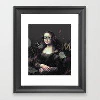 Mona Lisa SMILE Framed Art Print