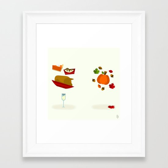 Thanksgiving & Fall Framed Art Print