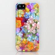 Rainbow Flower Shower iPhone (5, 5s) Slim Case