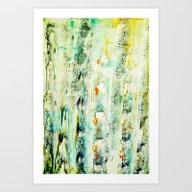 Greenish Abstract Art Print