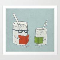 Reading Glasses Art Print